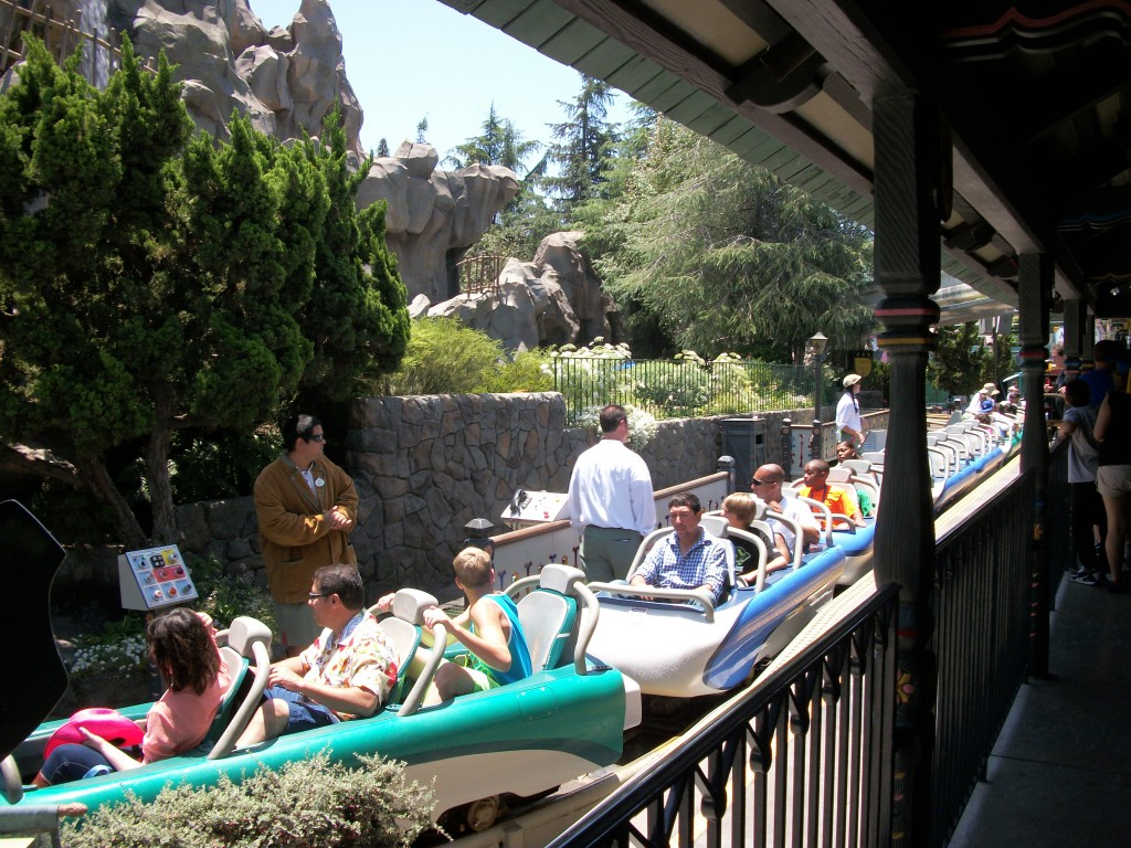 Loading the Matterhorn in Disneyland