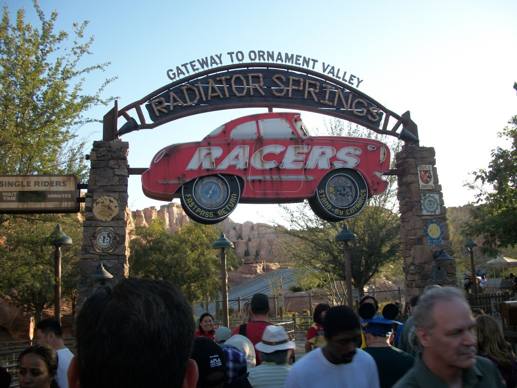 Radiator Springs Racers Disneyland California Adventure