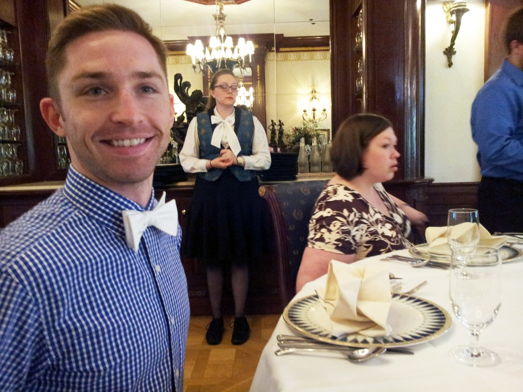 Sitting down to the table at Club 33