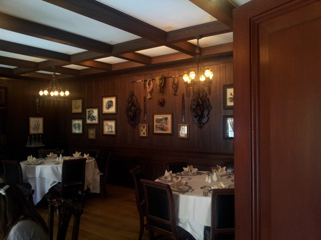 The Hunting Room or Trophy Room Dining Room at Club 33
