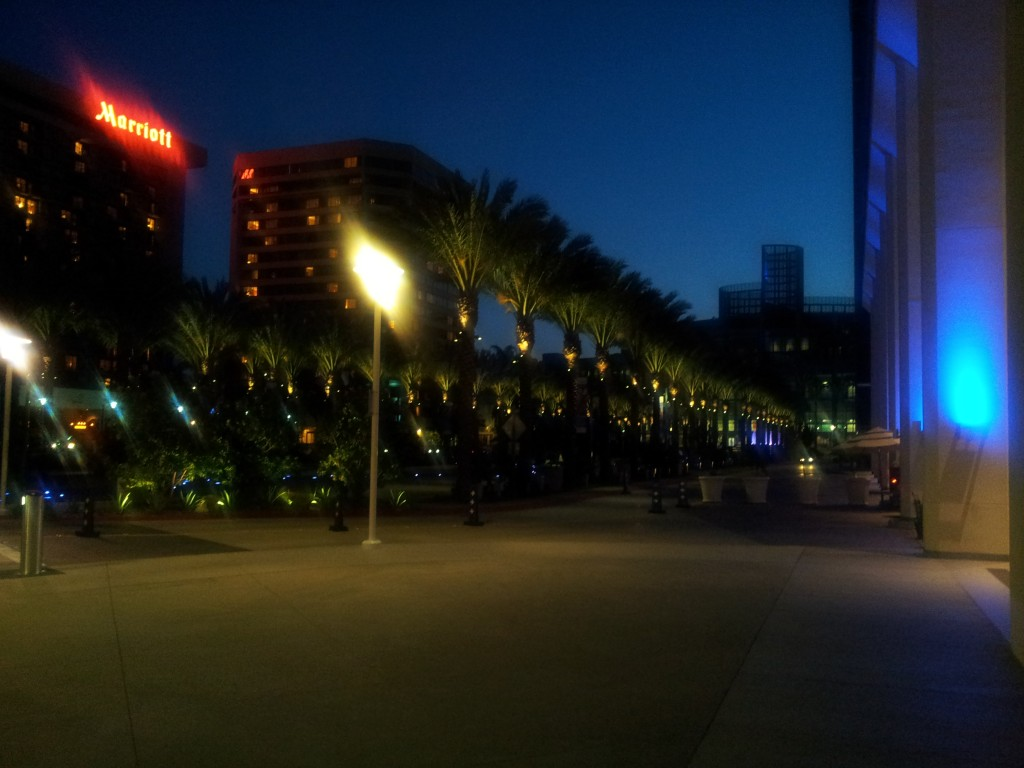 Walking Back to the Hilton Anaheim
