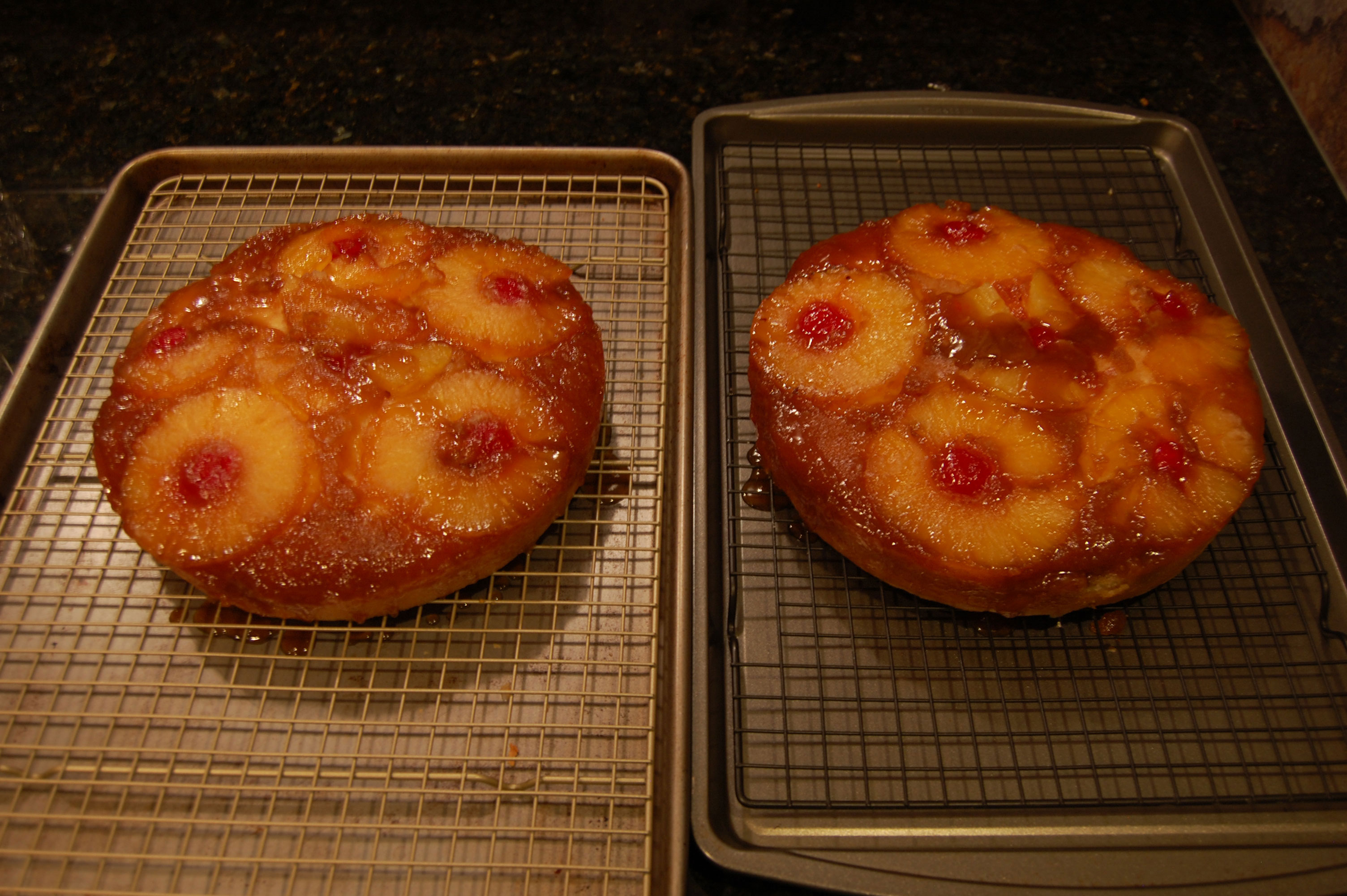 The Two Pineapple Upside Down Cakes