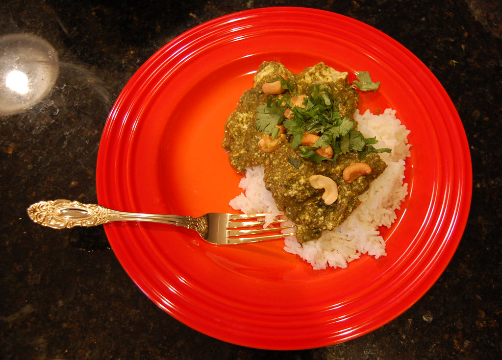 Saag Paneer Finished