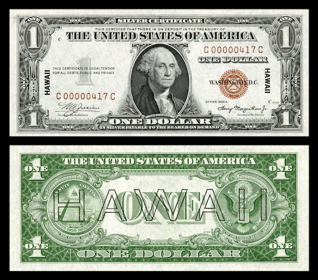 Hawaii Overprint Banknotes
