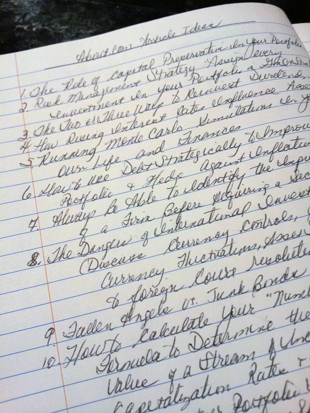Writing in Cursive