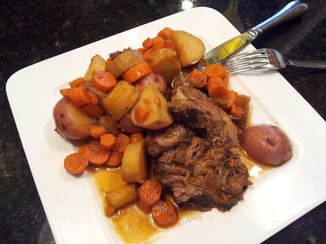 Finished Pot Roast with Vegetables