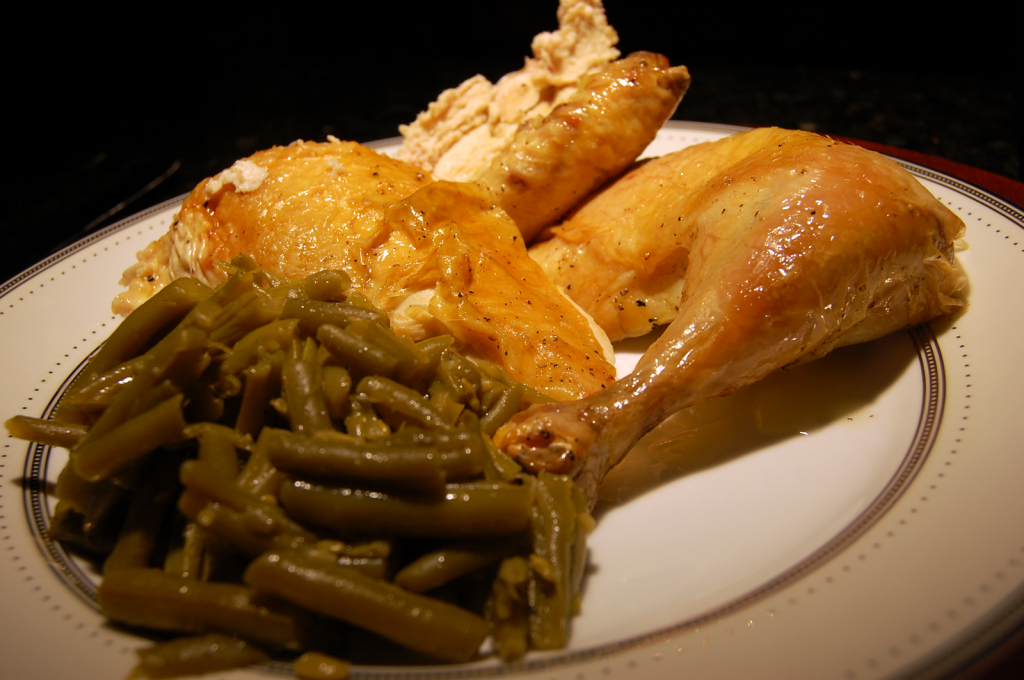 Chicken with Two Lemons and Green Beans