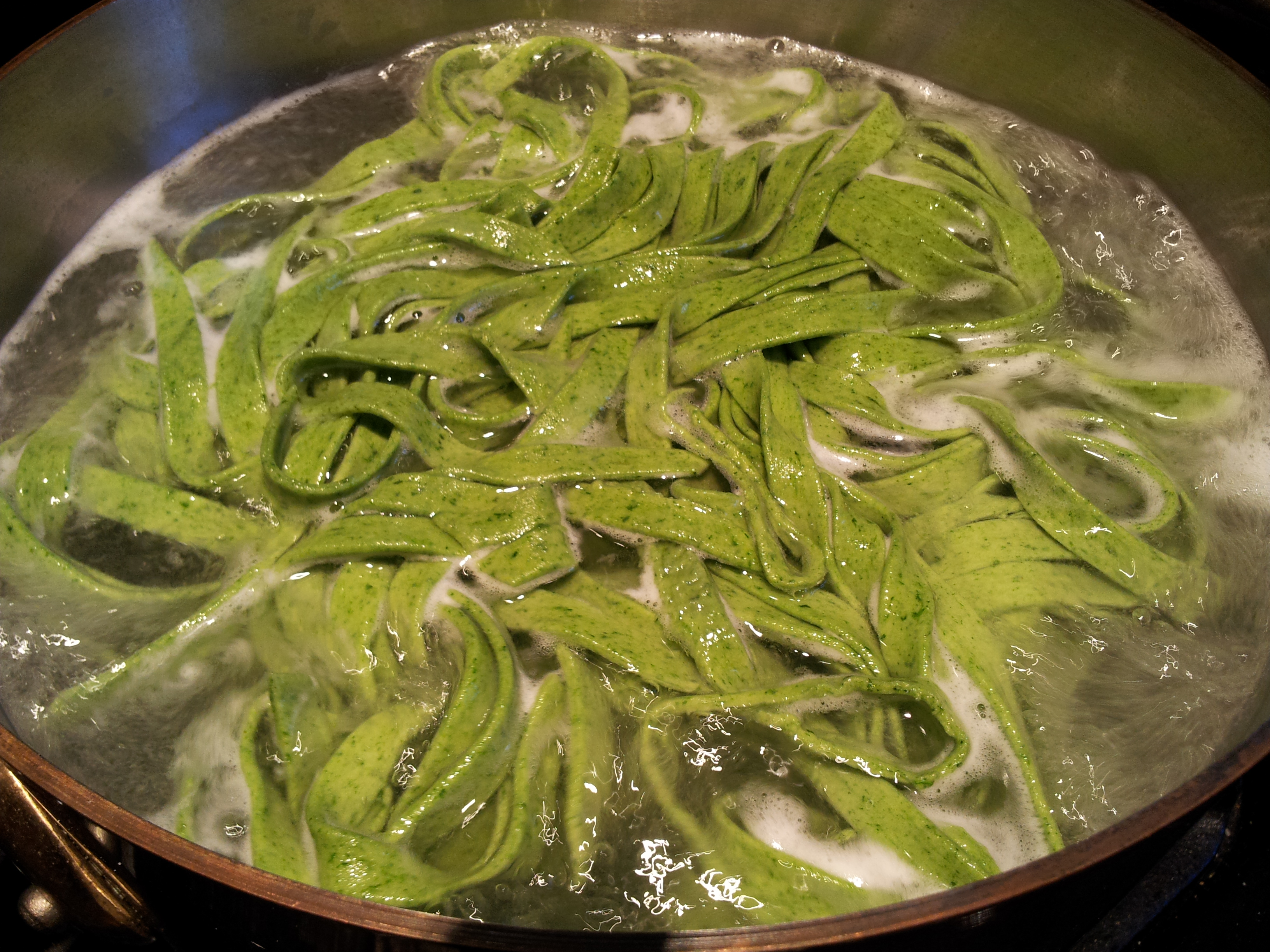 Cooking Spinach Fettuccine
