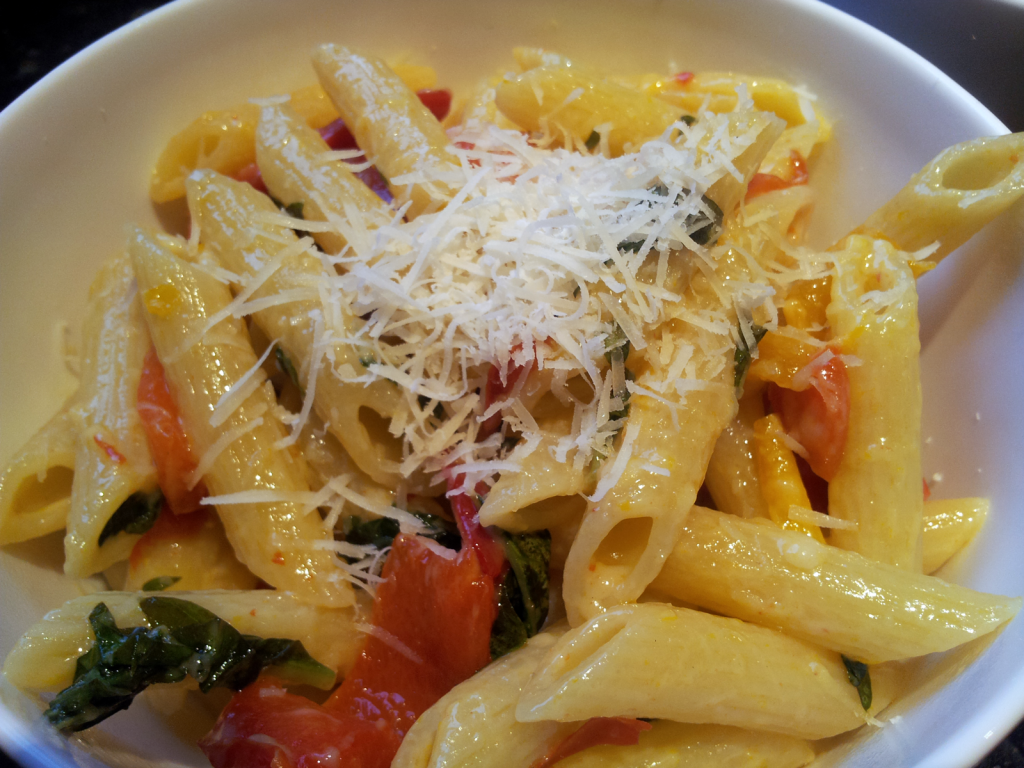 Parmesan and Bell Pepper Penne