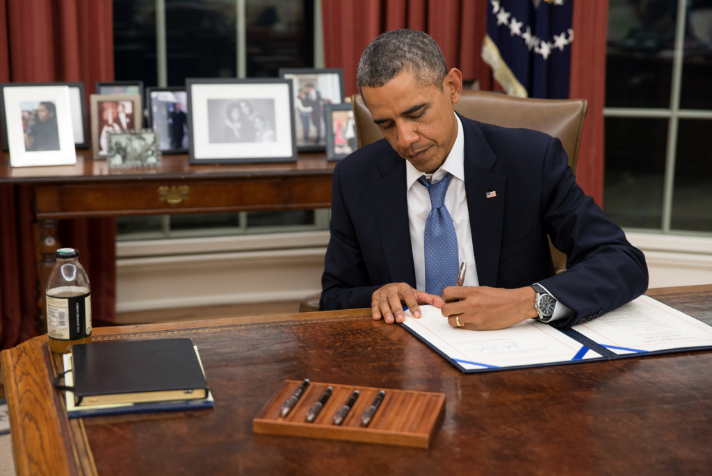 President Signing Law