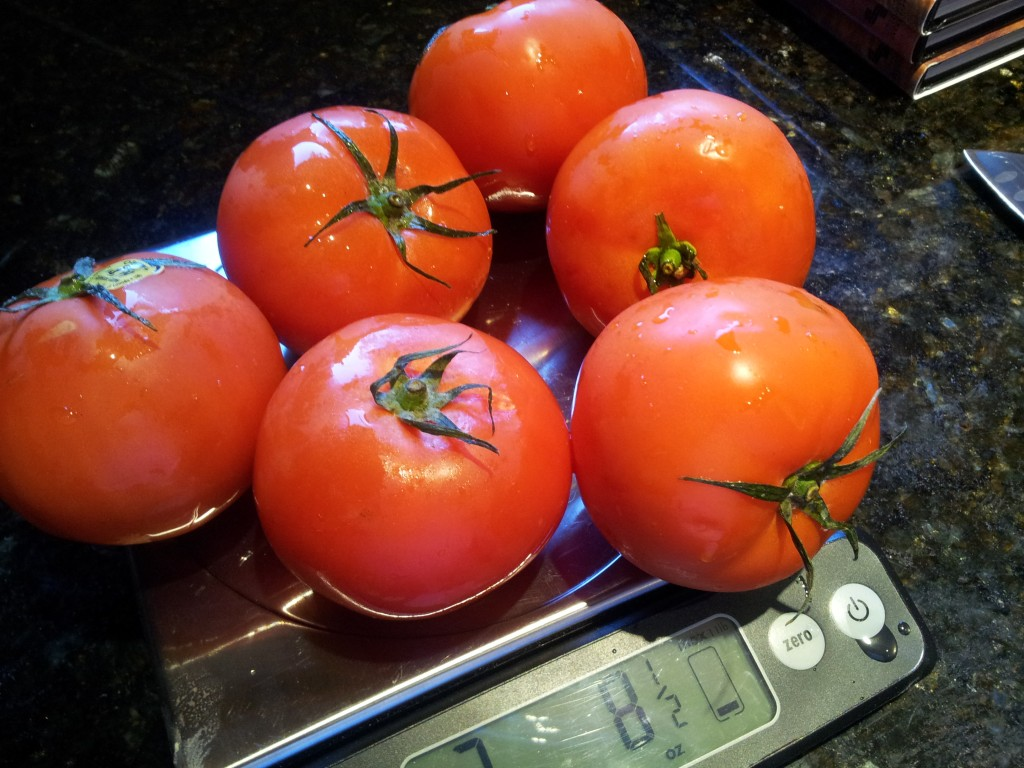 Six Tomatoes for Tomato and Cream Sauce