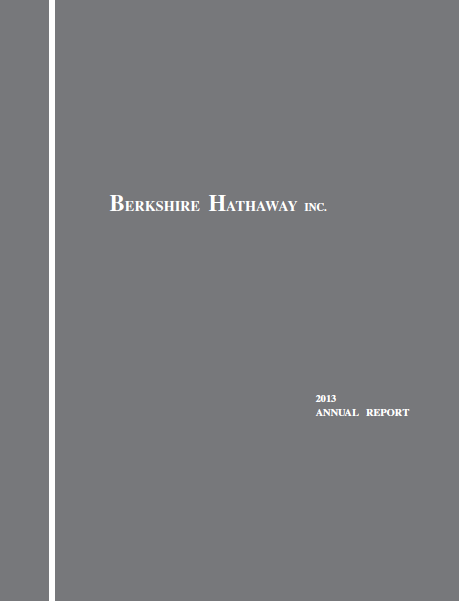 Berkshire Hathaway 2013 Annual Report