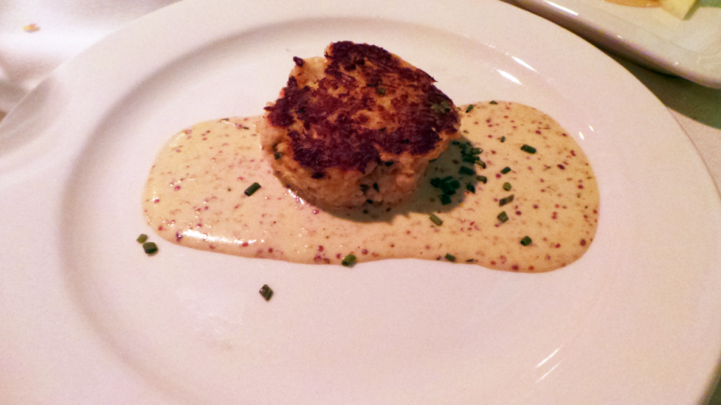 Crab Cake from Pierpont's at Kansas City's Union Station