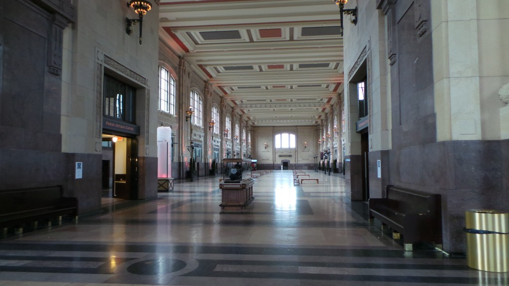 Looking Down a Wing of Union Station