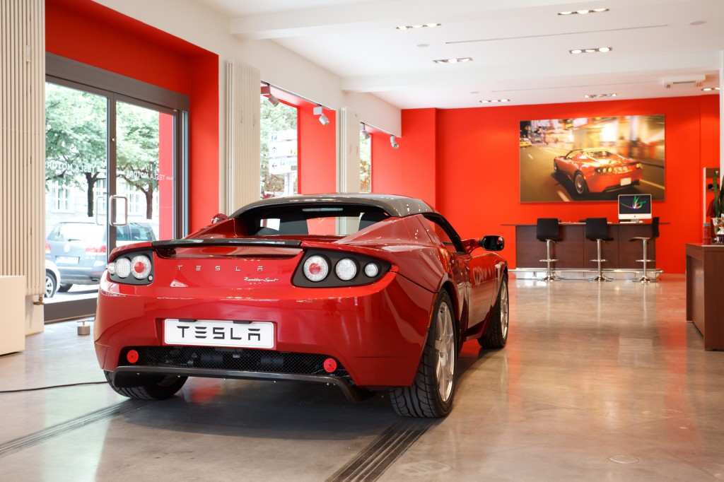 Tesla Motors showroom in Munich, Germany