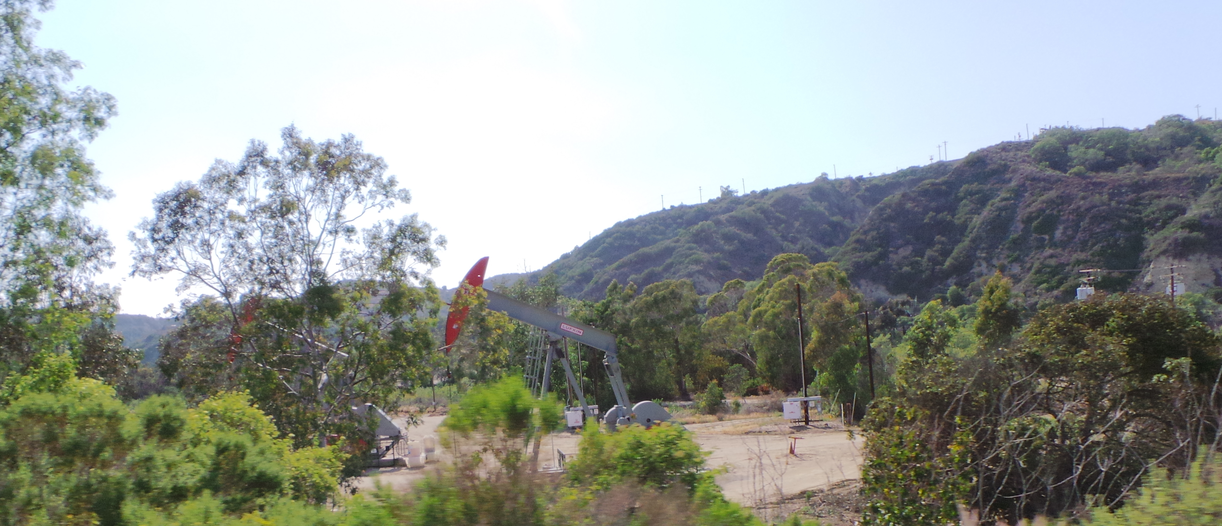 Drilling for Oil on Drive from Ojai California