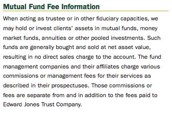Edward Jones Mutual Fund Disclosure
