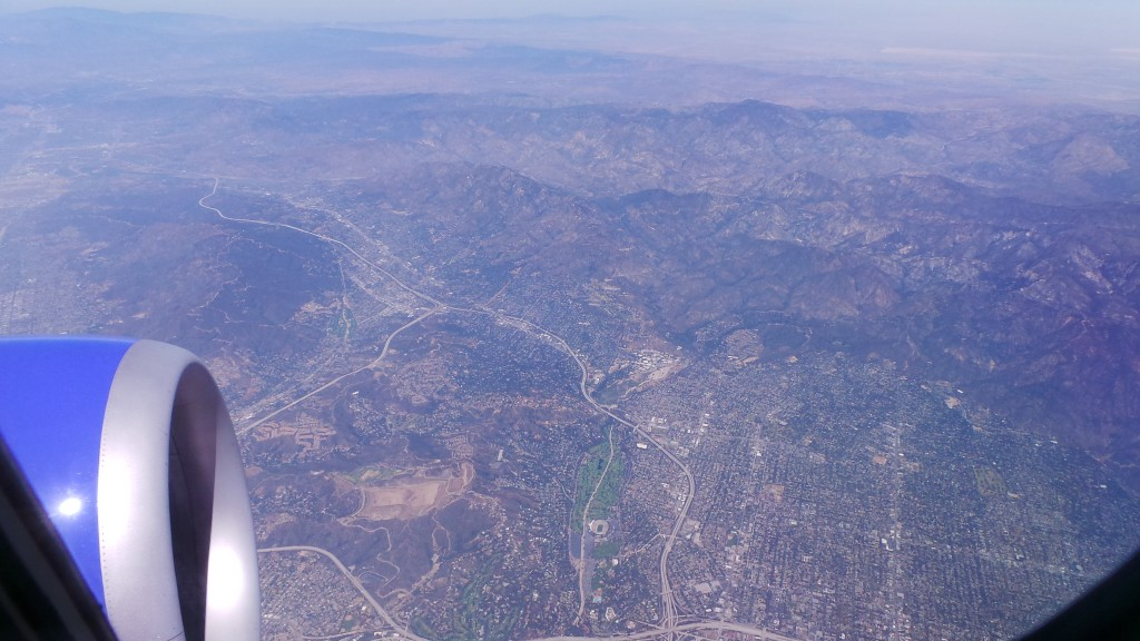 Flying Over Los Angeles Area