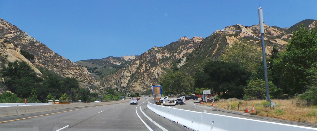 Going Through the Mountains Towards Solvang