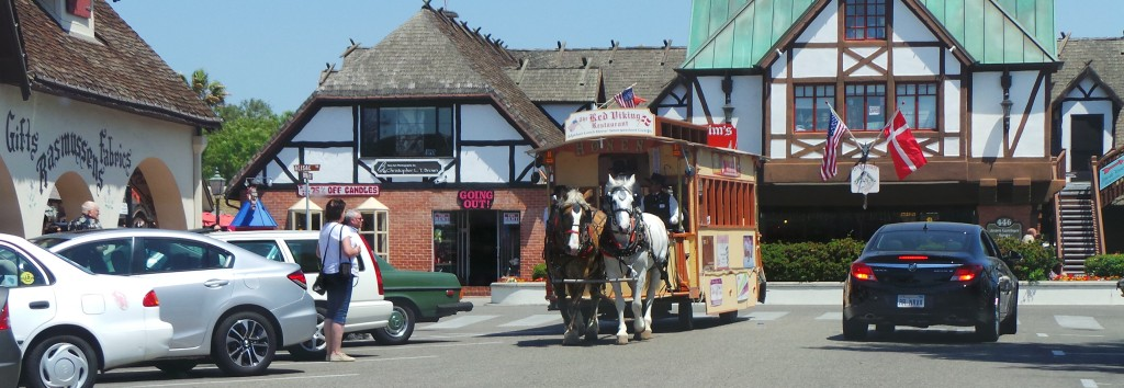Horse Trolley in Solvang
