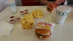 In-N-Out Cheeseburger, Fries, and Chocolate Shake