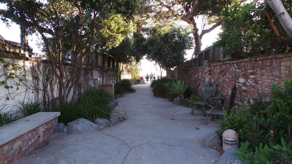 Looking Down Alley To Lookout Point Laguna Beach