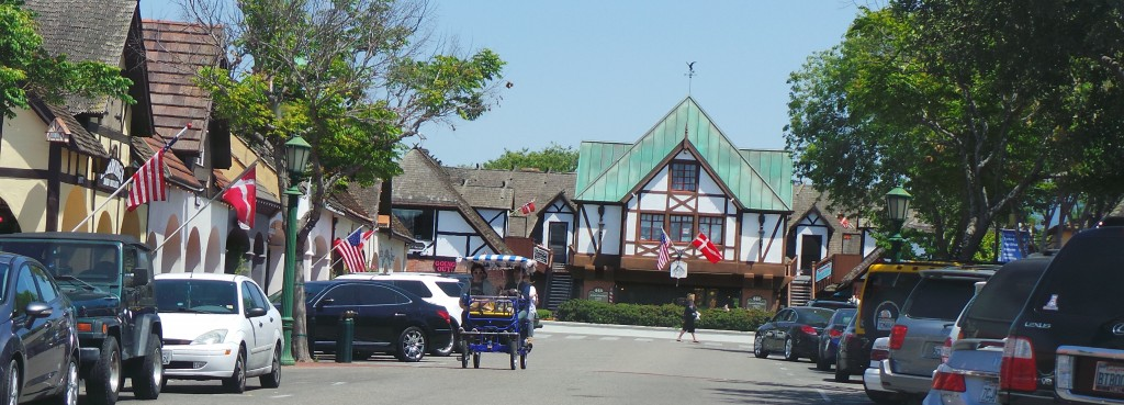Pedaling in Solvang