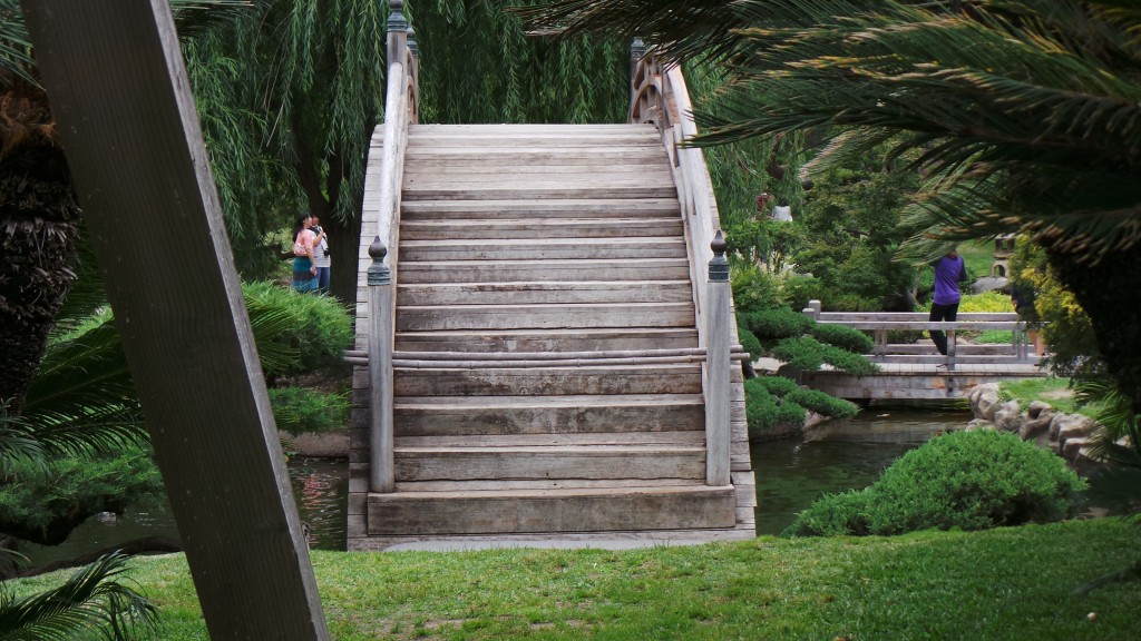 Steep Rainbow Bridge Stairs Japanese Garden Huntington Pasadena
