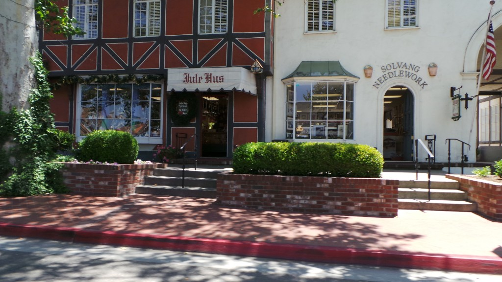 Storefronts in Solvang