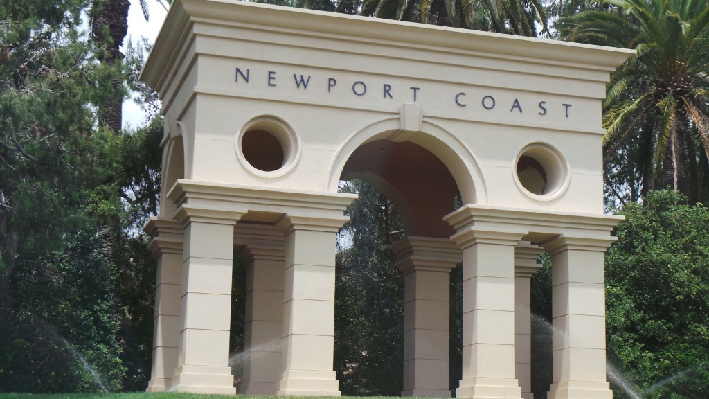The Famous Newport Coast Sign in California