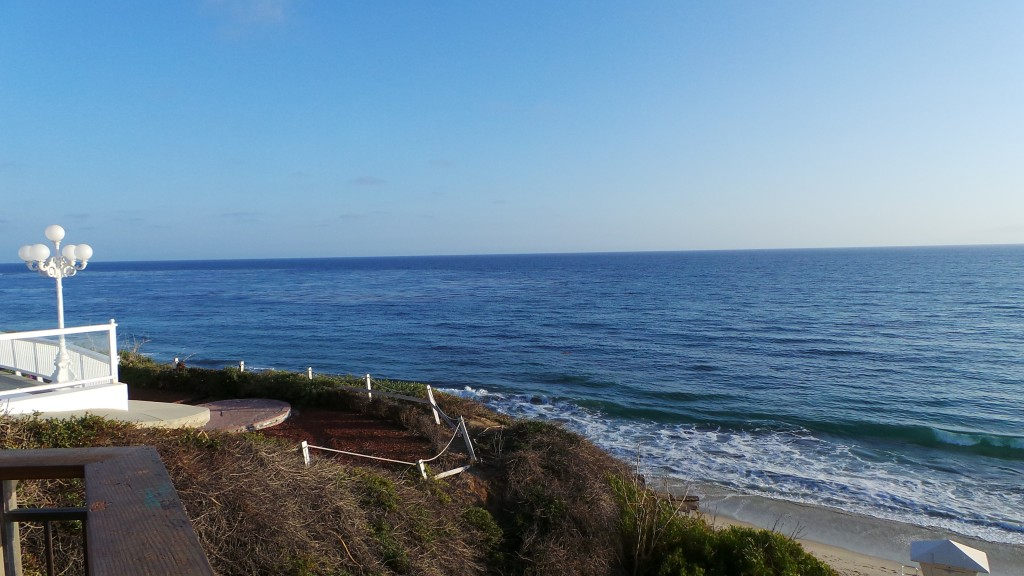 The View from the Lookout Down Hidden Alley In Laguna Beach