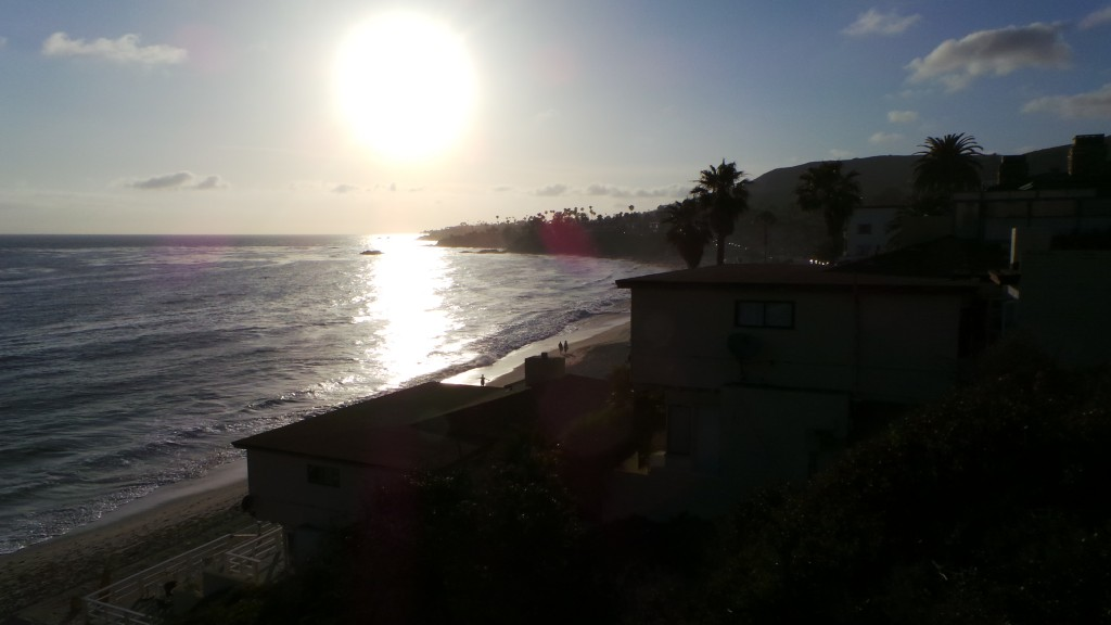 The View to the Right from Lookout Point Down Hidden Alley In Laguna Beach