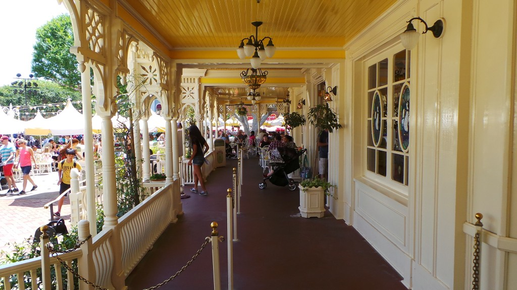 The View to the Right of Our Table Jolly Holiday Bakery Cafe Disneyland