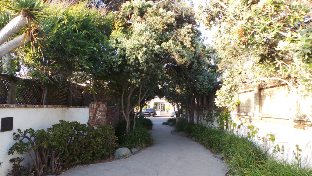 Walking Back to the Street from Lookout Point in Hidden Alley In Laguna Beach