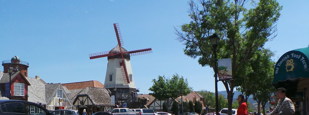 Windmill In Solvang Sky