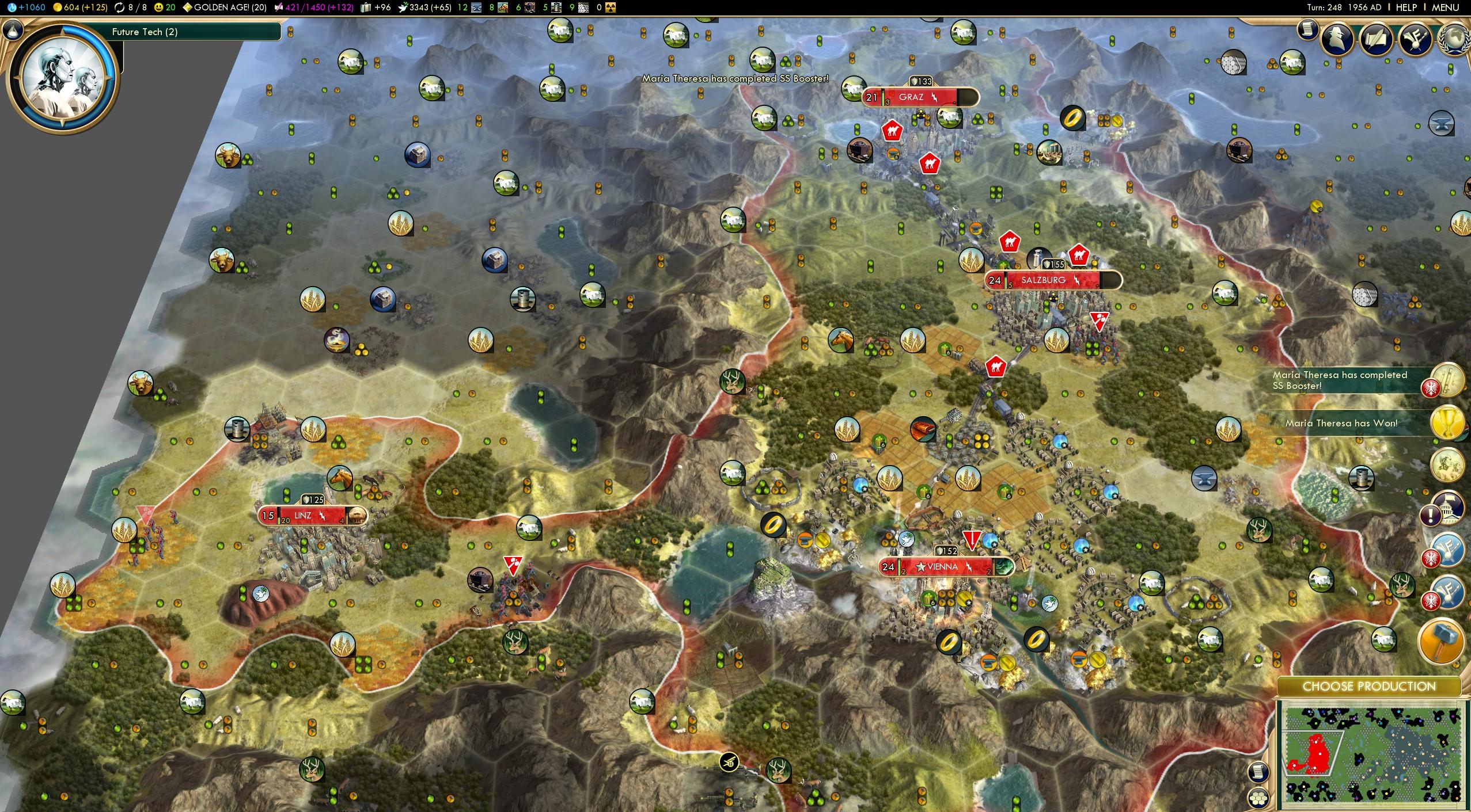 Austria Deity Victory