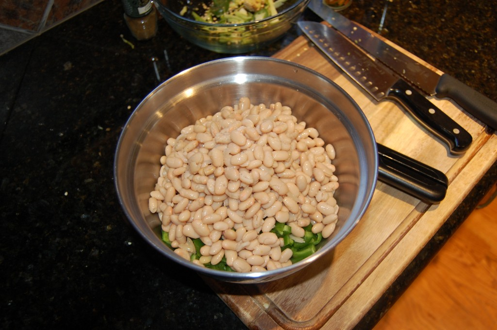 Adding Great Northern Beans to Chili Peppers