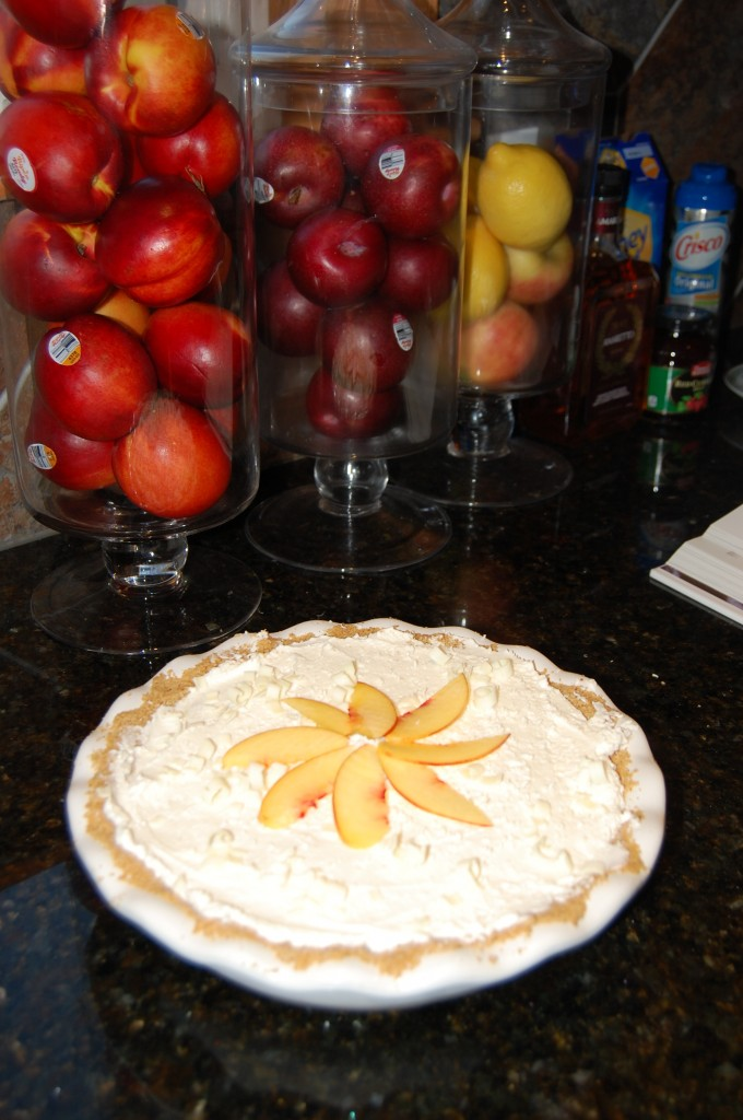 Delicious Nectarine White Chocolate Cream Pie