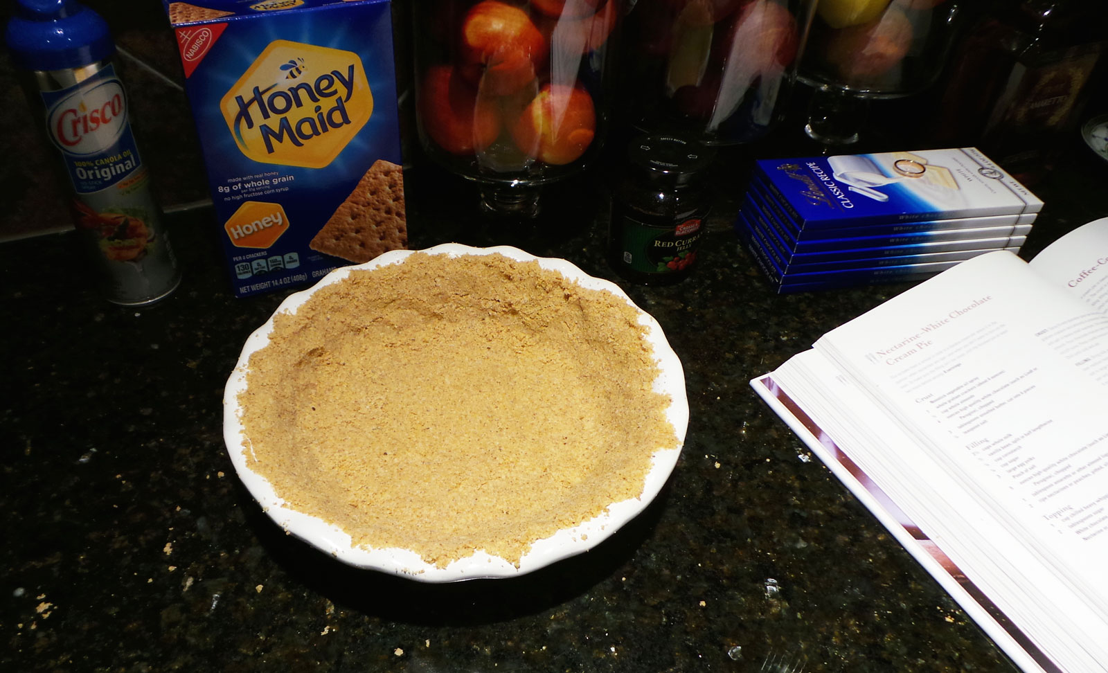 Packing Graham Cracker Crust Into Pie Dish