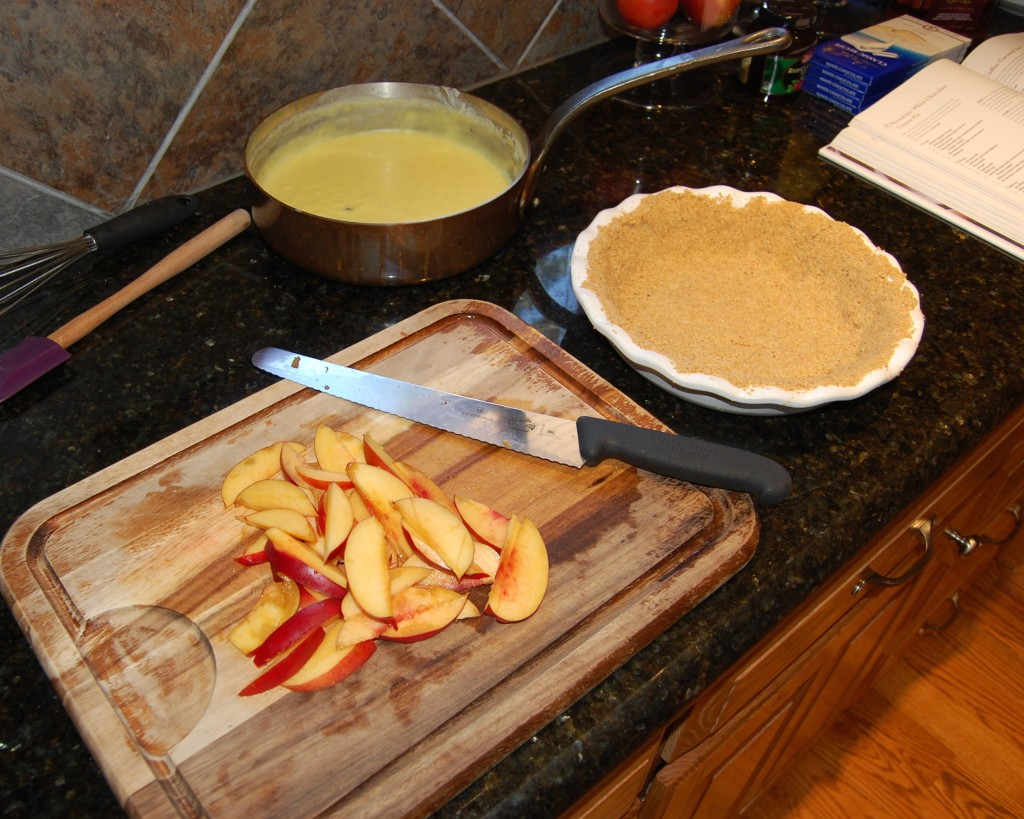 Ready to Fill Nectarine White Chocolate Cream Pie