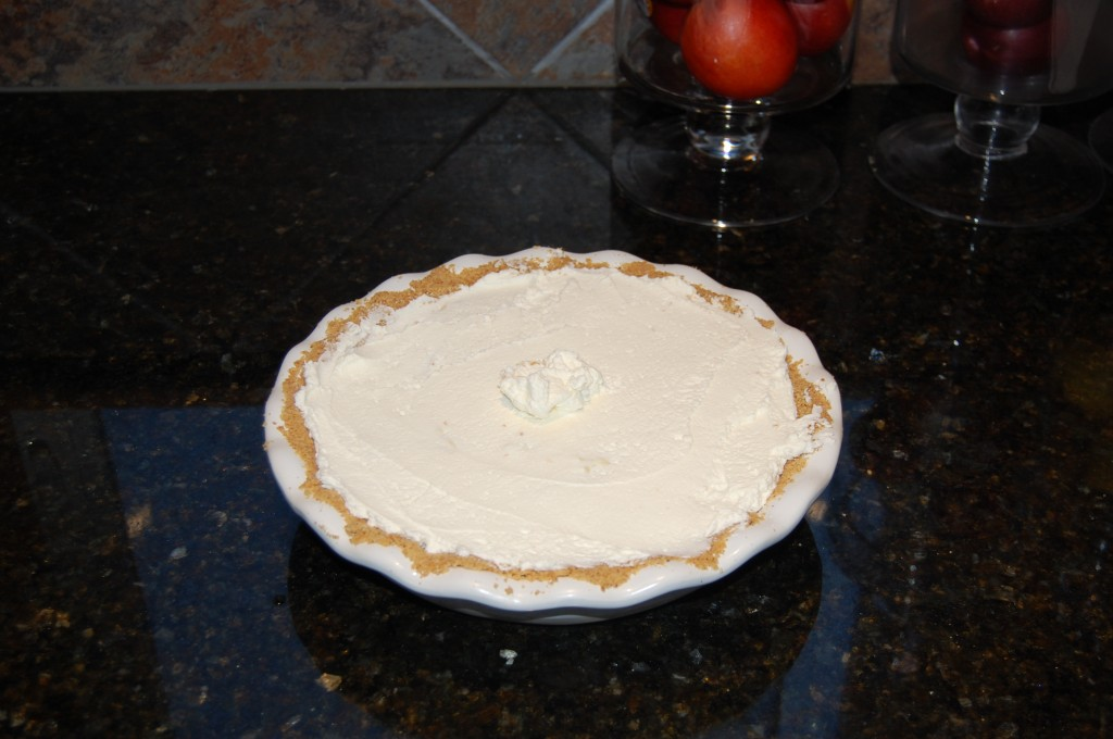 Spread Whipped Cream on Cream Pie