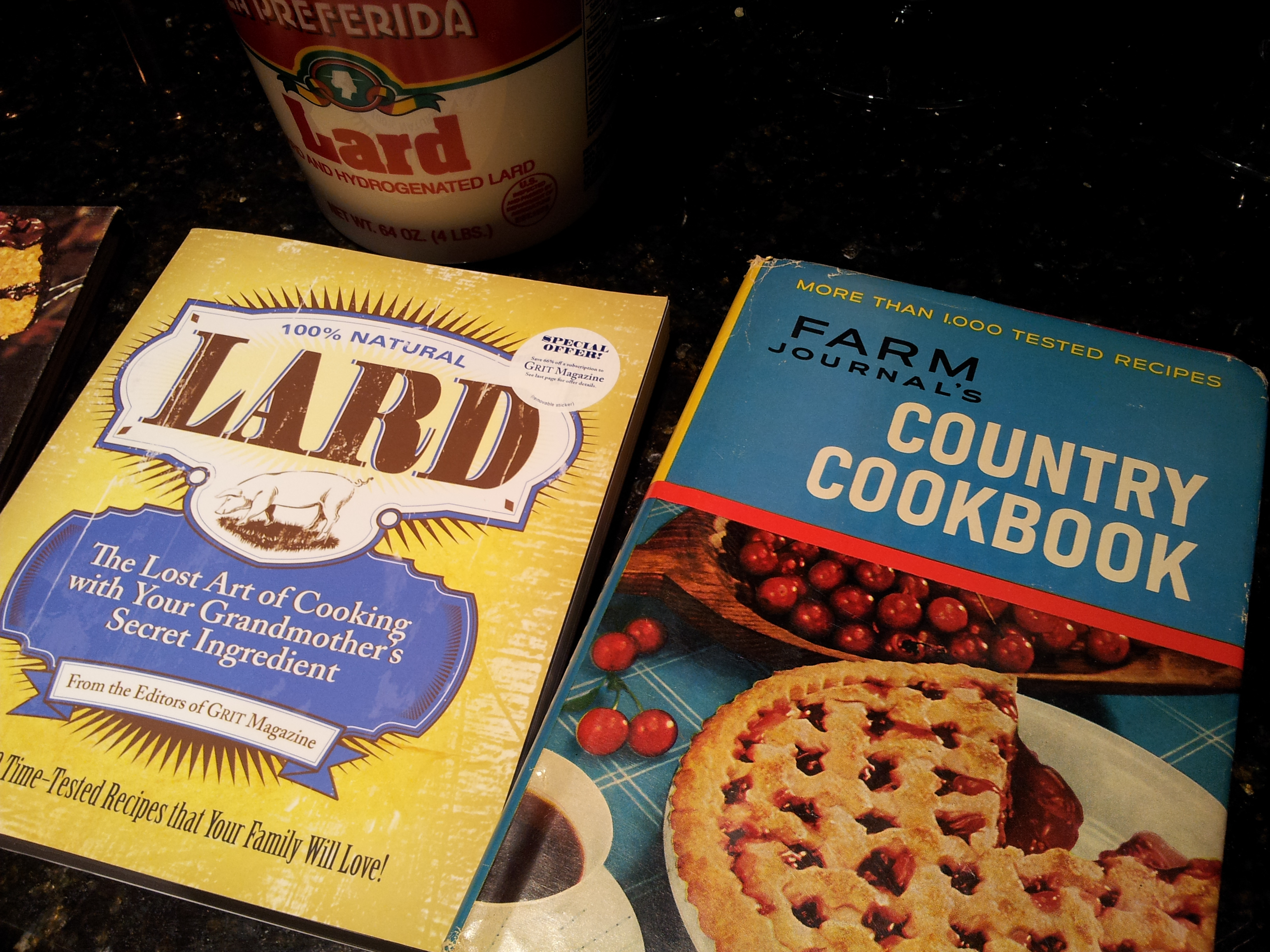 Antique Cookbooks and Lard
