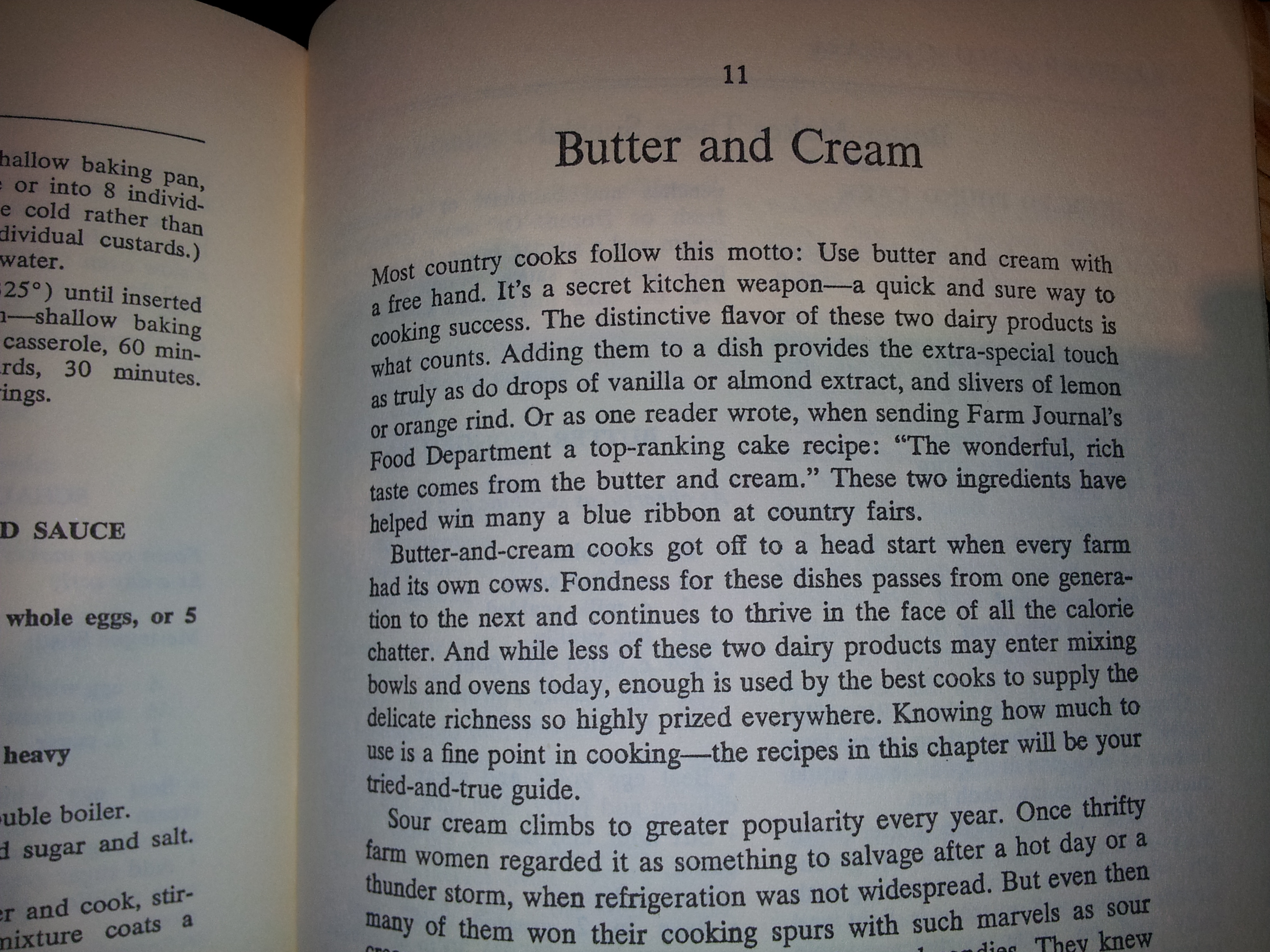 Cooking with Butter and Cream