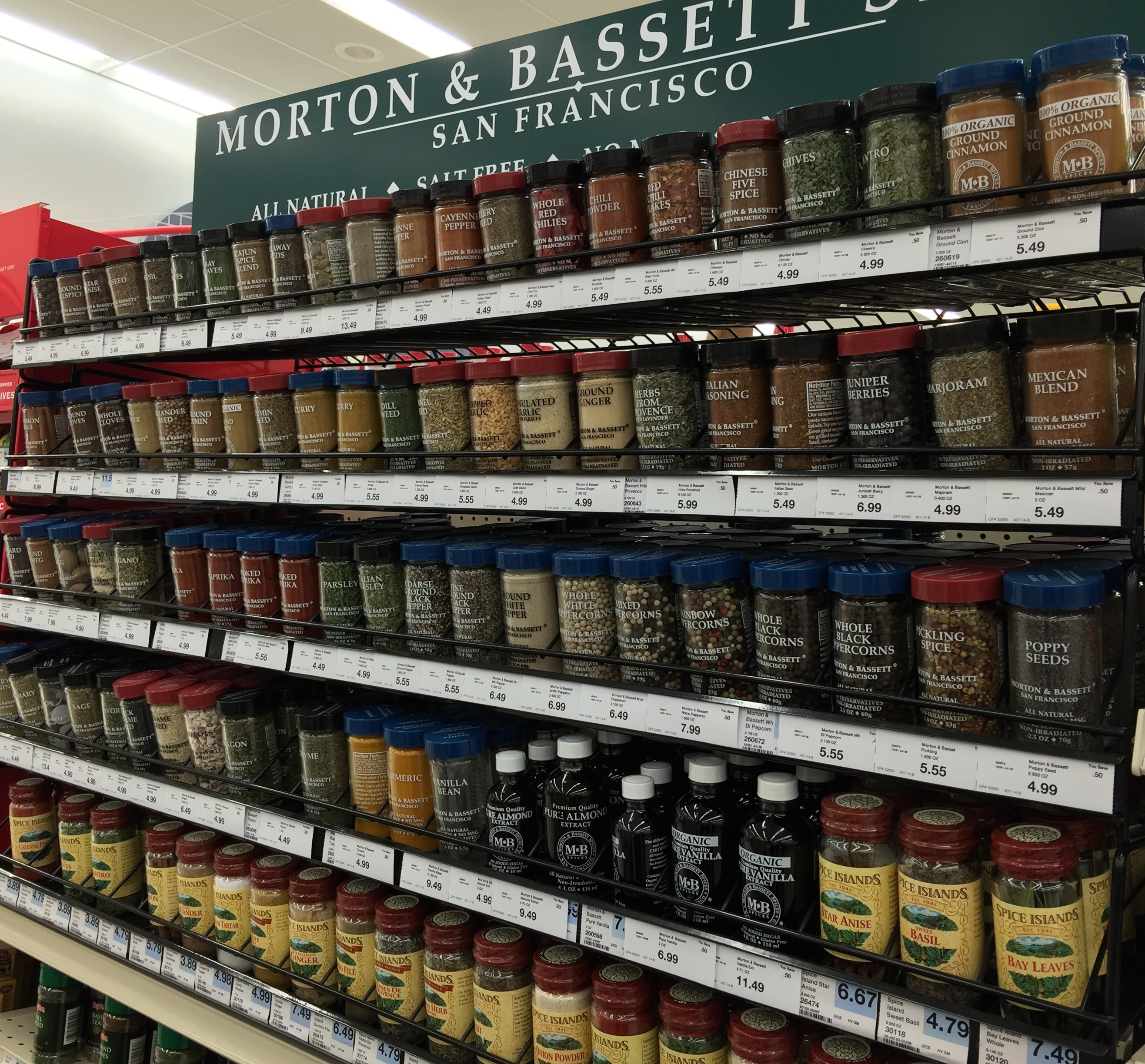 Grocery Store Spices