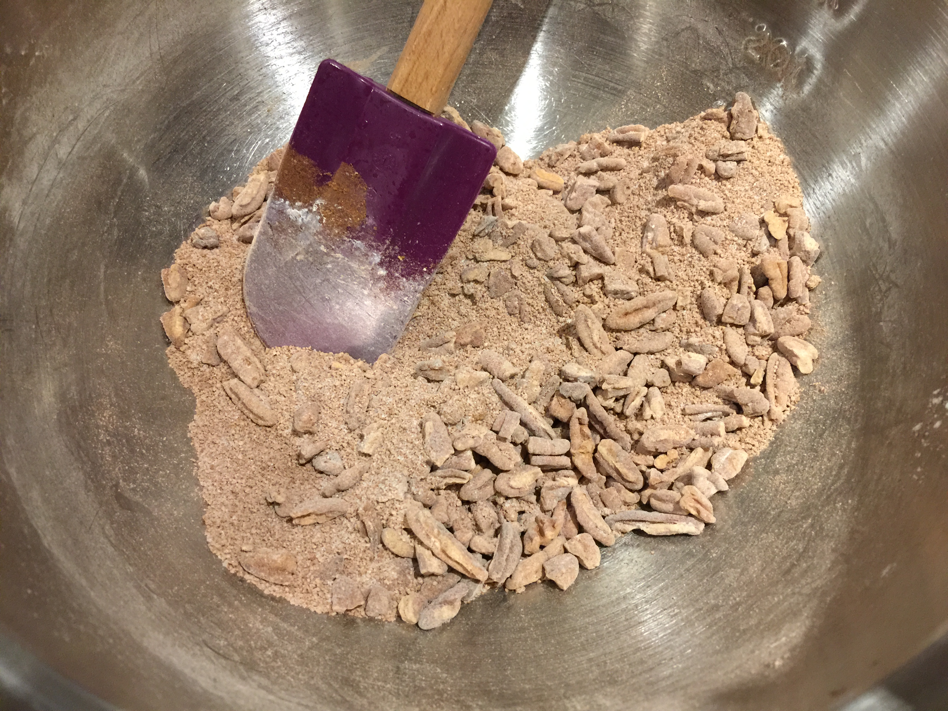Add Pecans to Cinnamon and Sugar Mixture for Caramel Pecan Apple Pie
