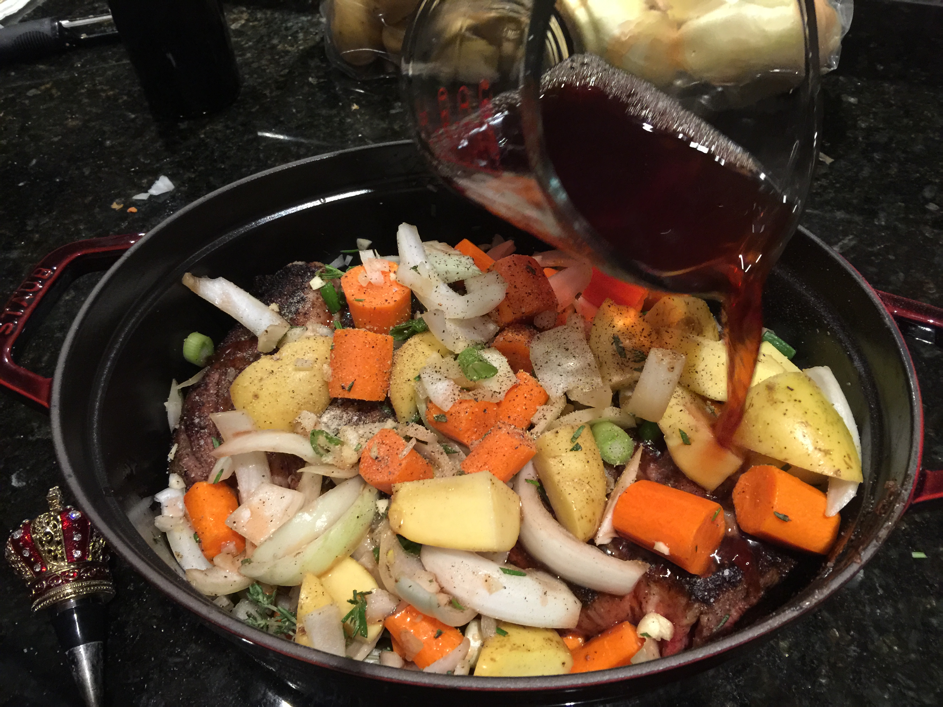 Adding Red Wine to Pot Roast