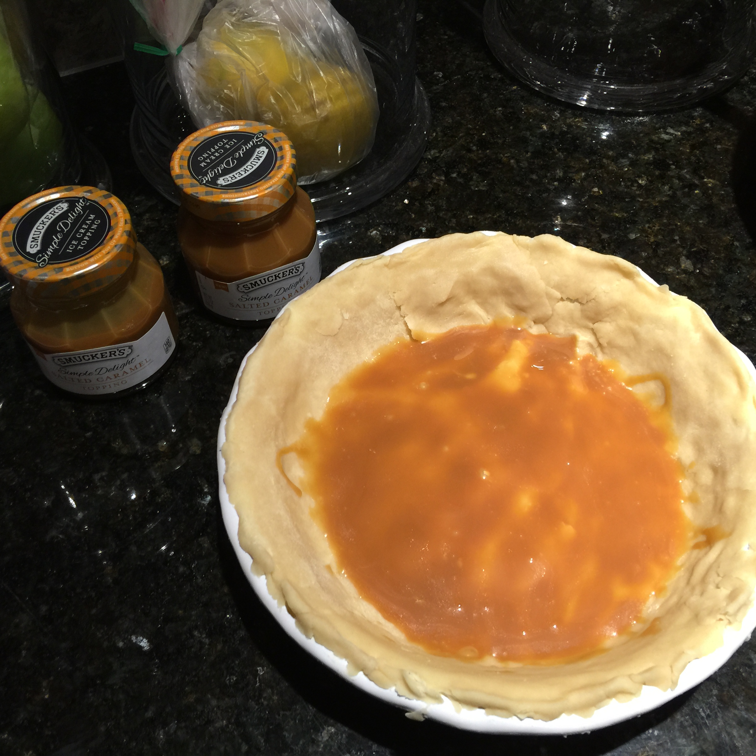Caramel in Pie Crust