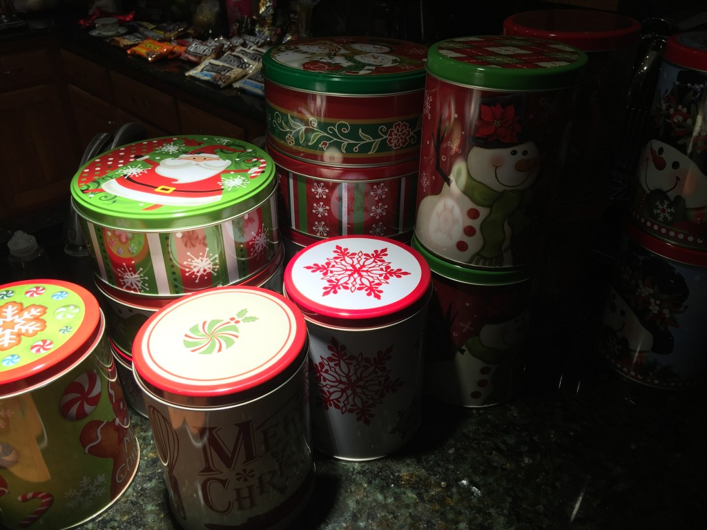 Christmas Tins for Candy