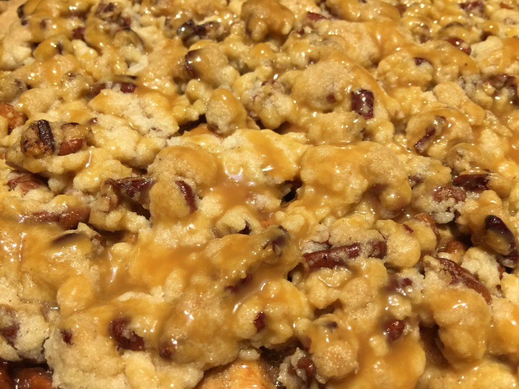 Joshua Kennon Caramel Pecan Apple Pie Filling Close Up Picture