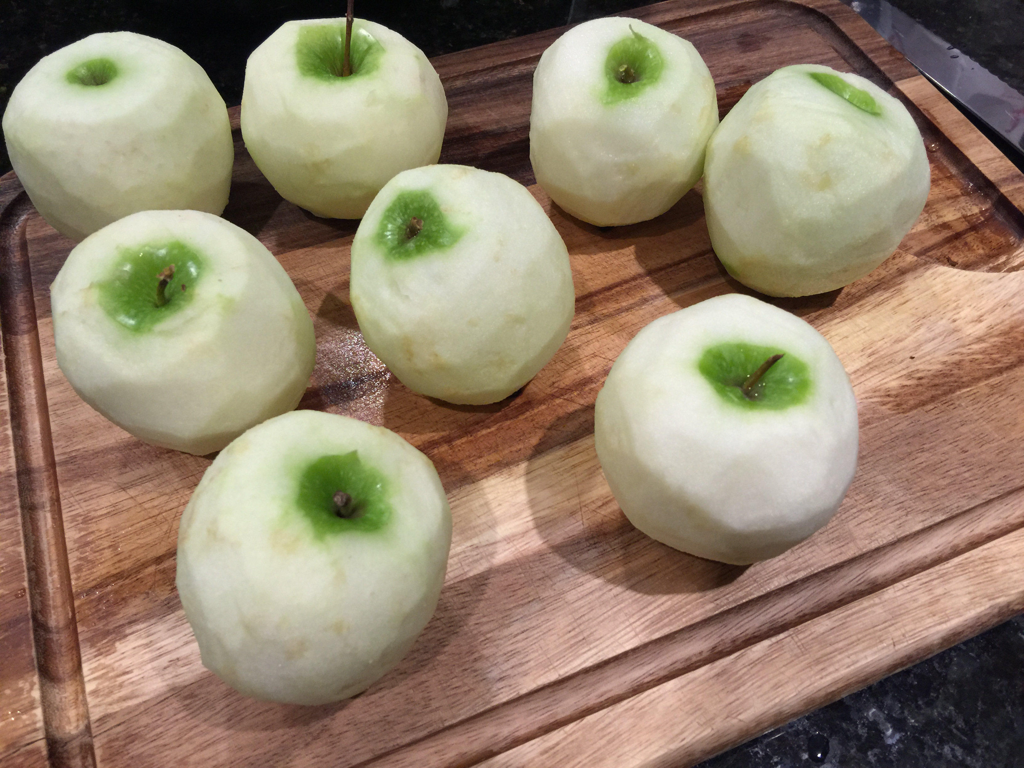 Peel Tart Apples for Caramel Pecan Apple Pie